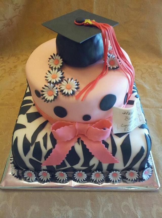 Amazing Essences Graduation Birthday Cake By Pamela Cakesdecor Personalised Birthday Cards Beptaeletsinfo