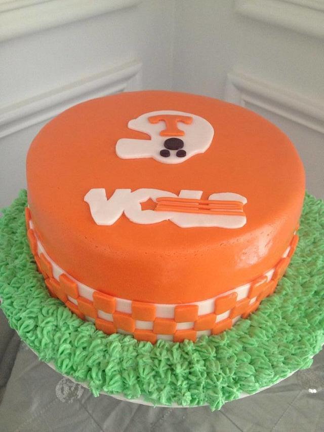 Tennessee Vols Birthday Cake