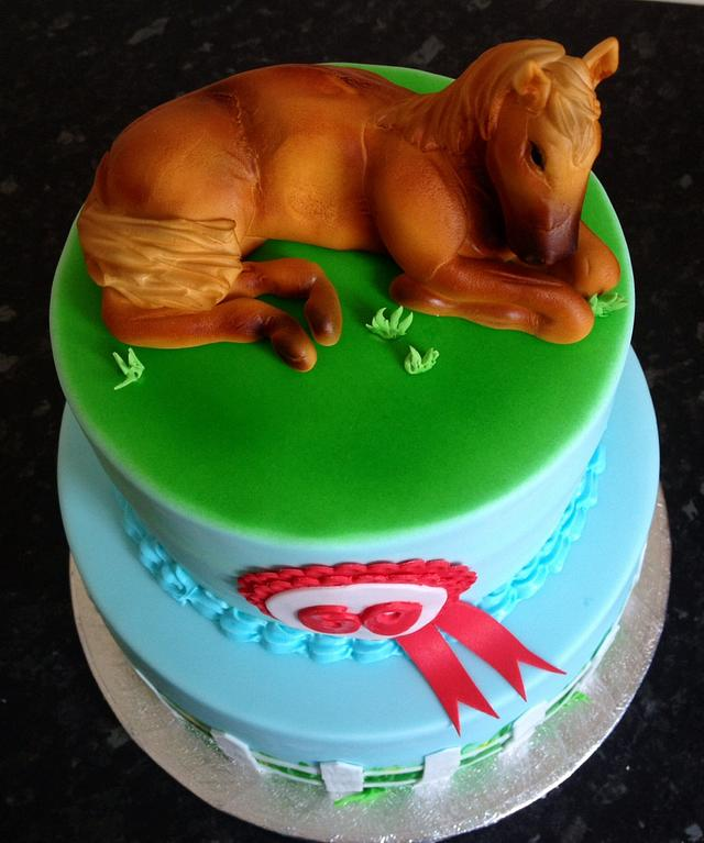 Amazing Horse Themed 60Th Birthday Cake Cake By Daisychains Cakesdecor Funny Birthday Cards Online Alyptdamsfinfo