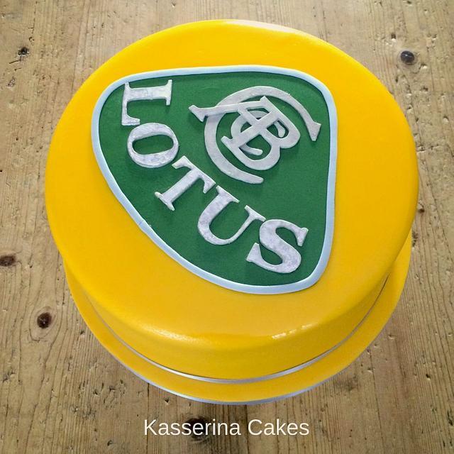 Lotus badge cake