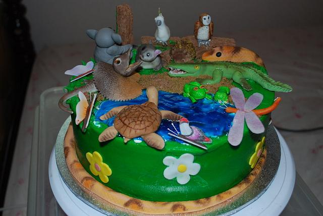 Wondrous Australian Wildlife Cake Cake By Bloominscrumptious Cakesdecor Funny Birthday Cards Online Benoljebrpdamsfinfo