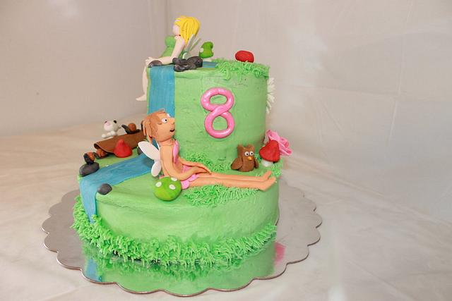 Groovy Fairy Birthday Cake Cake By Kimberly Miller Cakesdecor Personalised Birthday Cards Sponlily Jamesorg