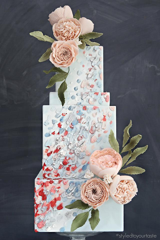 David Austin Roses and Palette Painting Textures
