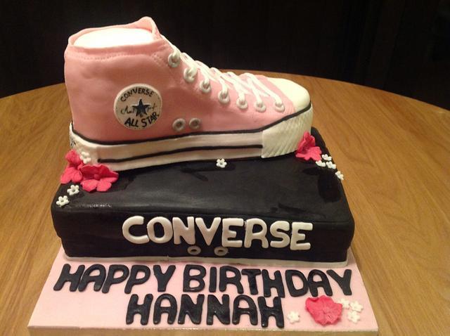 Converse Shoe Birthday Cake