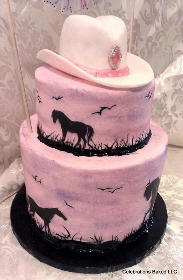 horse cake/hand painting