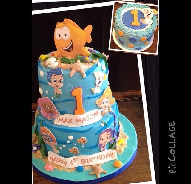 Astonishing Bubble Guppies First Birthday Cake By Jaclyn Dinko Cakesdecor Funny Birthday Cards Online Hetedamsfinfo