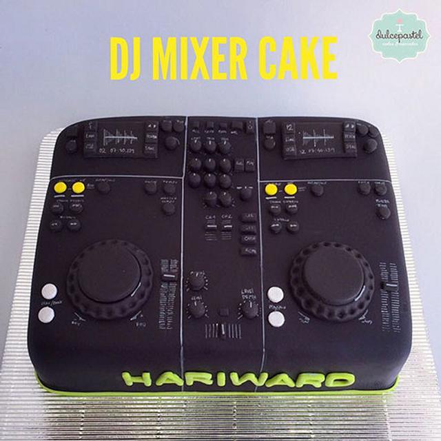 Torta Cónsola DJ Mixer Cake