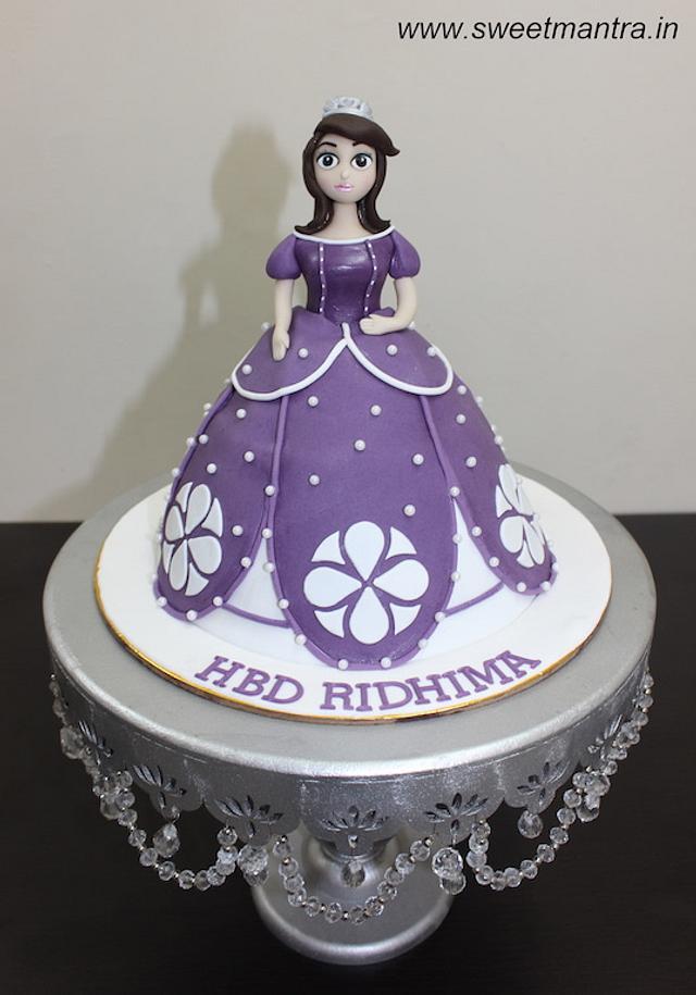 Groovy Princess Sofia The 1St Theme Fondant Cake For Girls Cakesdecor Funny Birthday Cards Online Inifodamsfinfo