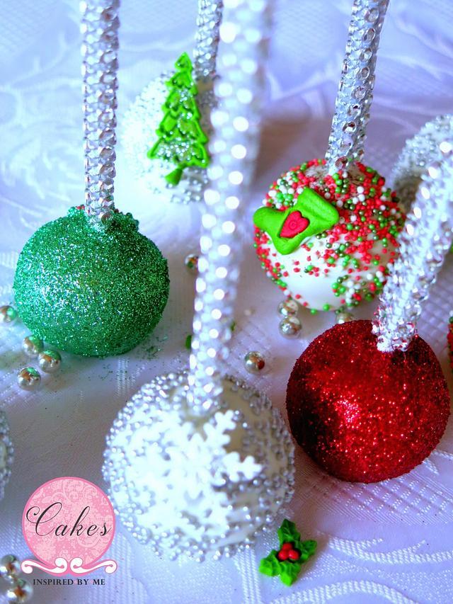 Bling Christmas cake pops