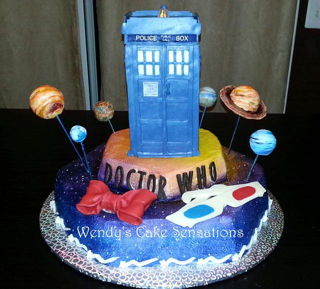 Cool Dr Who Tardis Birthday Cake Cake By Wendys Cake Cakesdecor Funny Birthday Cards Online Inifofree Goldxyz