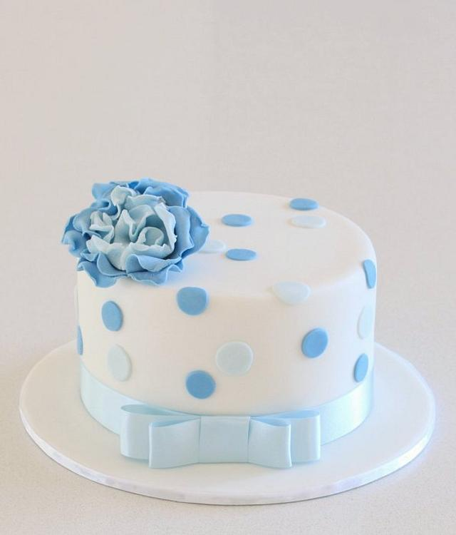Little Blue Birthday Cake!