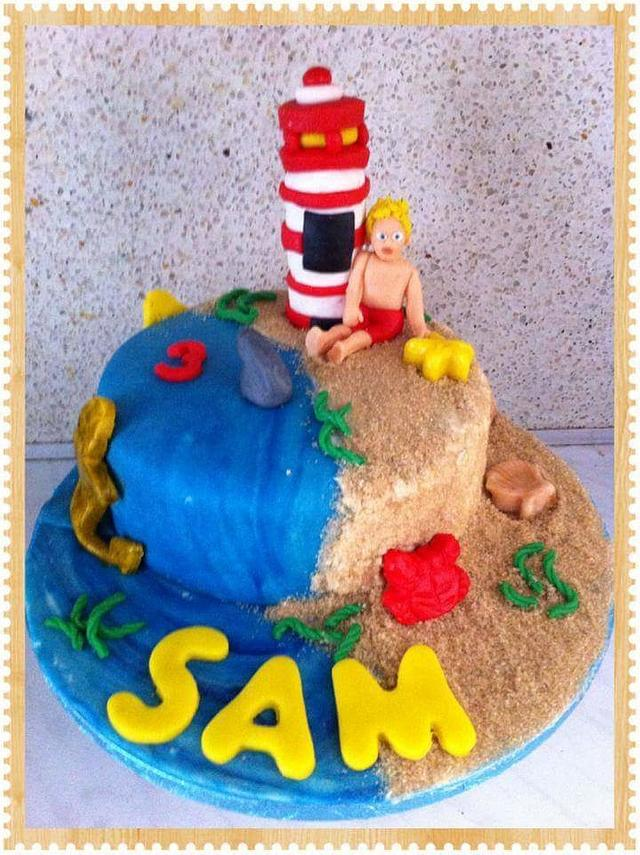 Beach cake firetower