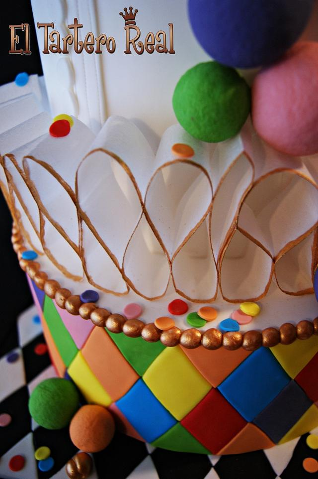 """Arlequín"" cake for Sweet World Carnival Collaboration"