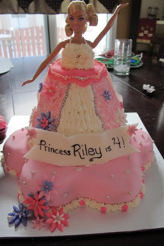 My 1st Barbie Cake~HELP