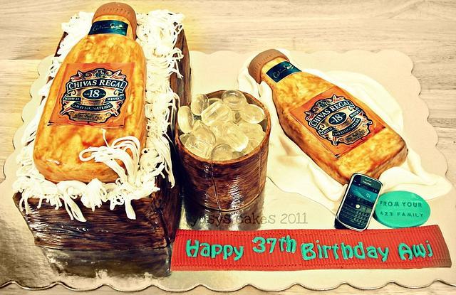 Whiskey Chivas Regal 18 Cake