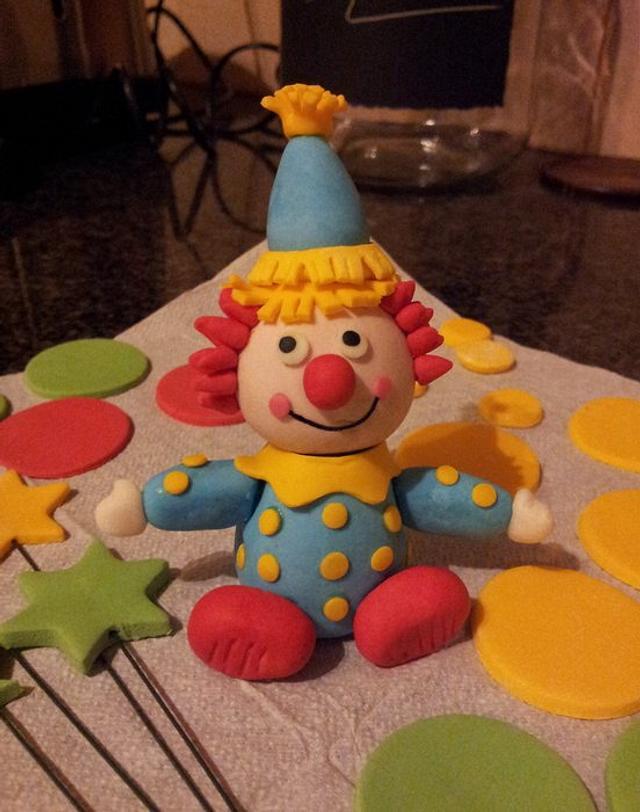 Sugarpaste Clown
