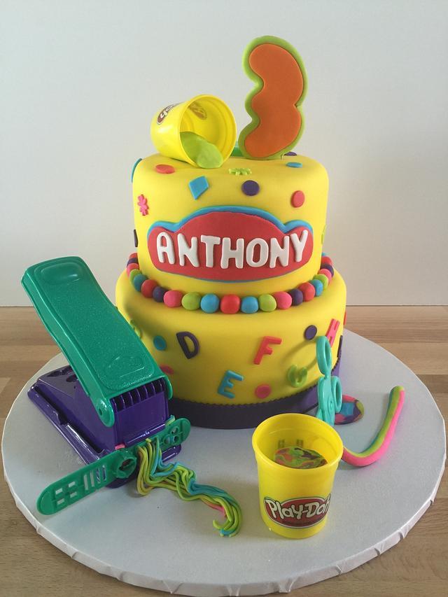 Miraculous Play Doh Themed 3Rd Birthday Cake Cake By Pattie Cakes Cakesdecor Personalised Birthday Cards Veneteletsinfo