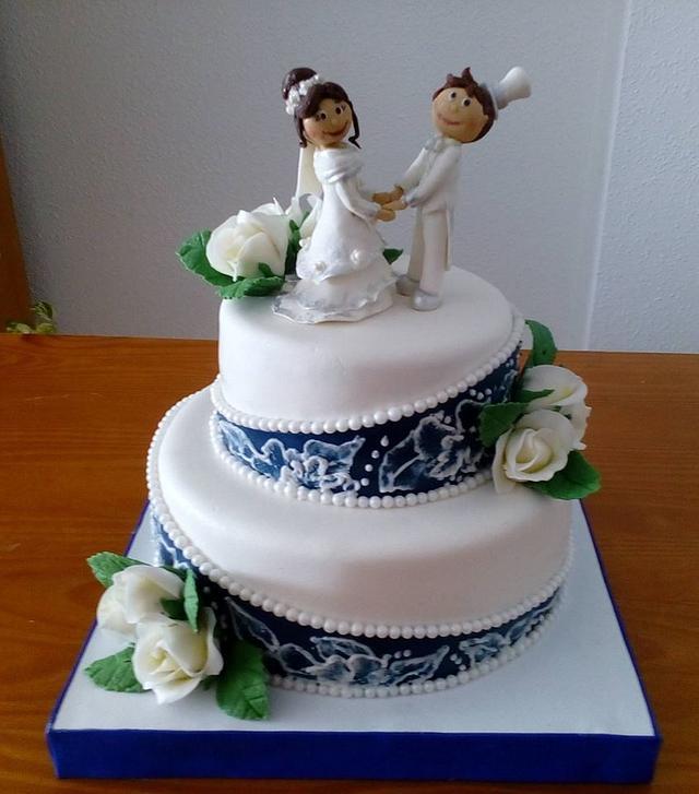 WEDDING CAKE  OF ALEKSANDRA AND JORGE
