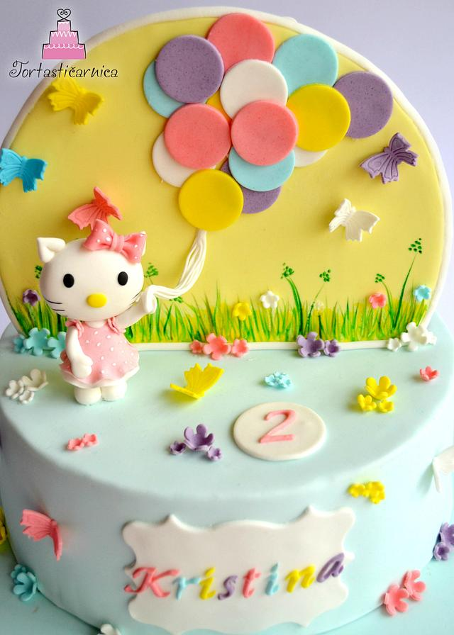 Double cake: Hello Kitty and Dusty :)