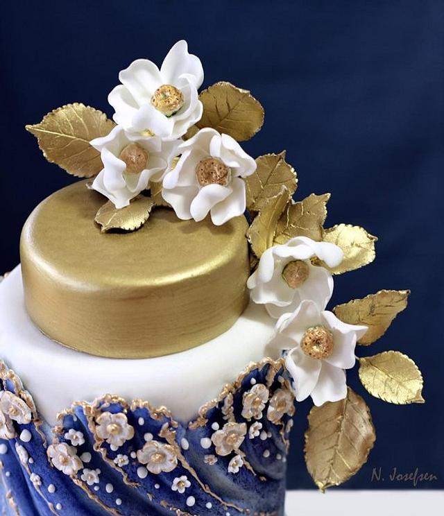 A blue cake