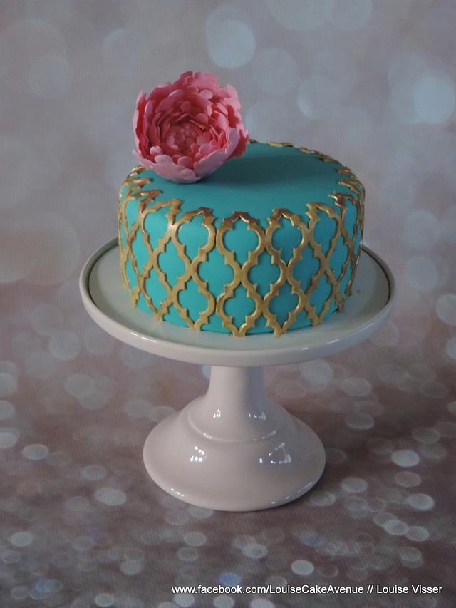 Nice peony cake