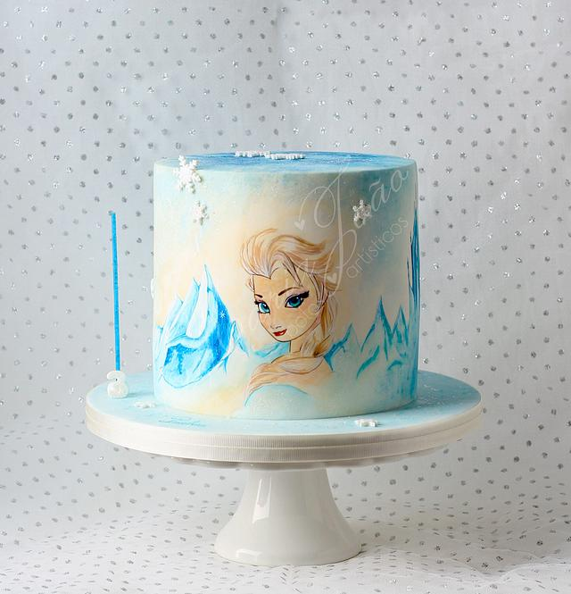Frozen Painted Cake