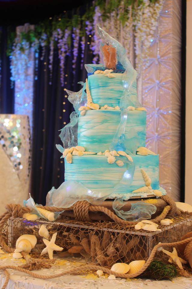Unique Sea Themed Cake