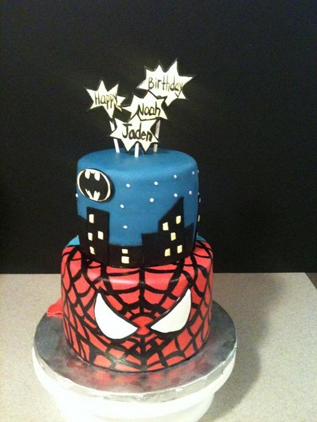 Brilliant Superheroes Birthday Cake Cake By Cecilia Gonzalez Cakesdecor Personalised Birthday Cards Cominlily Jamesorg