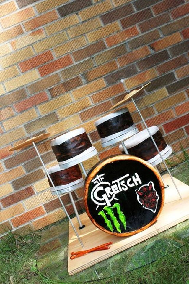 Drum Set Grooms Cake