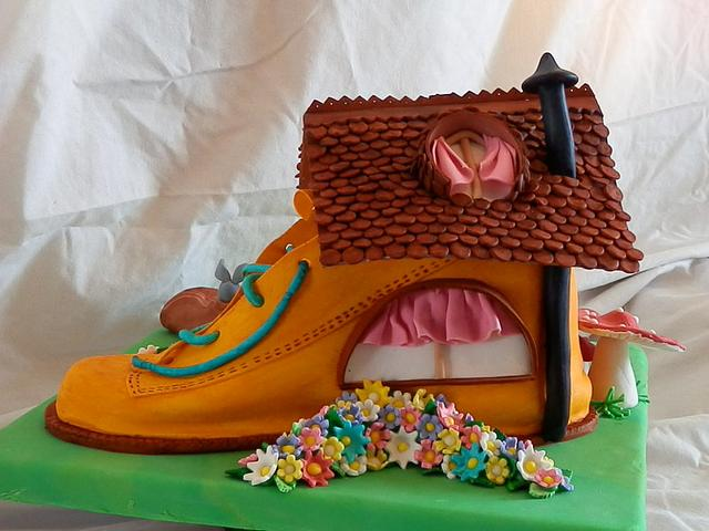 Little old lady who lived in a shoe