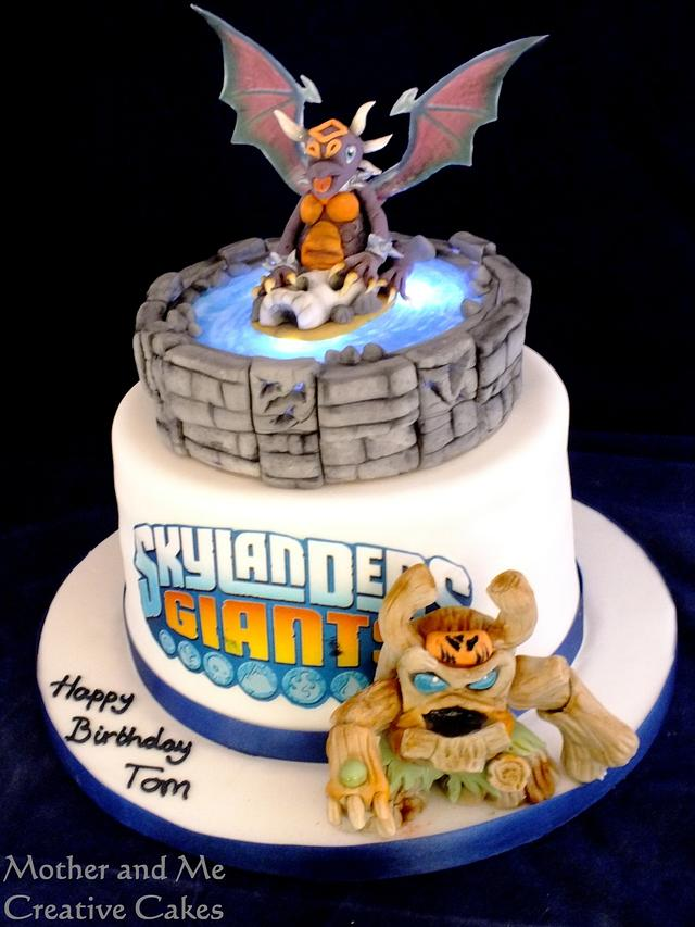 Remarkable Cake For A Skylander Player Cake By Mother And Me Cakesdecor Funny Birthday Cards Online Inifodamsfinfo