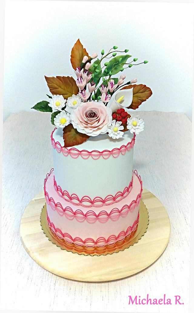 Flower - royal icing cake