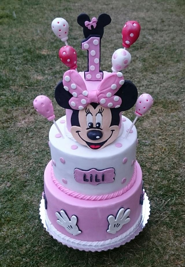Amazing Minnie Mouse Birthday Cake Cake By Andycake Cakesdecor Funny Birthday Cards Online Alyptdamsfinfo