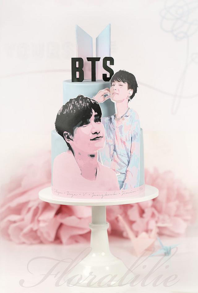 BTS Birthday cake
