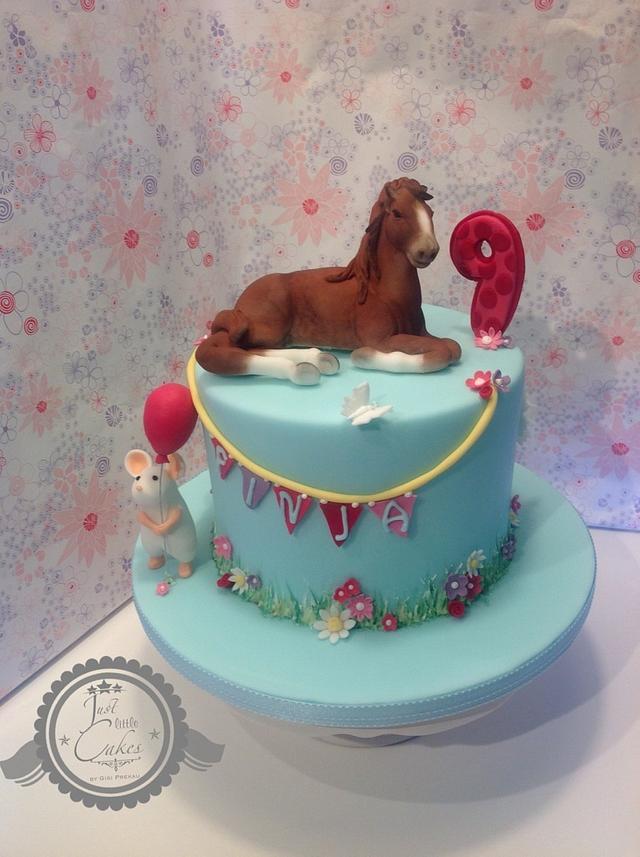 Birthdaycake with horse ....