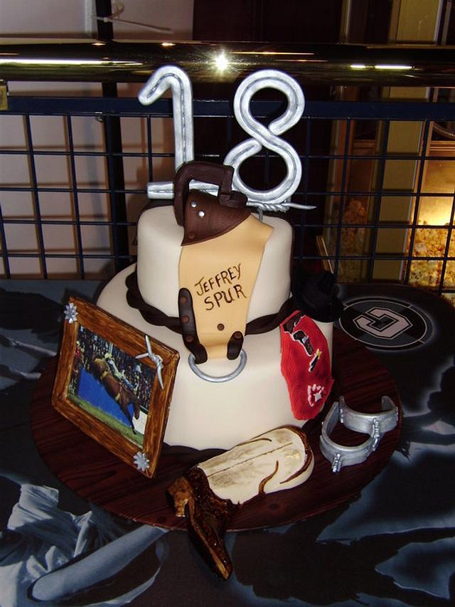 Bare back rider cake