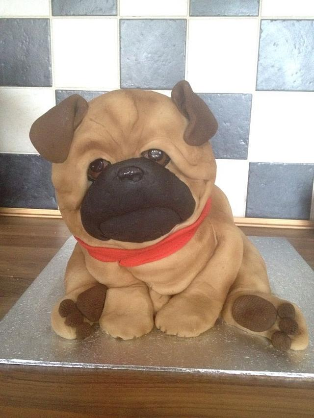 Pug pup cake