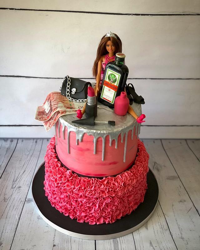 Boozie Barbie drip cake
