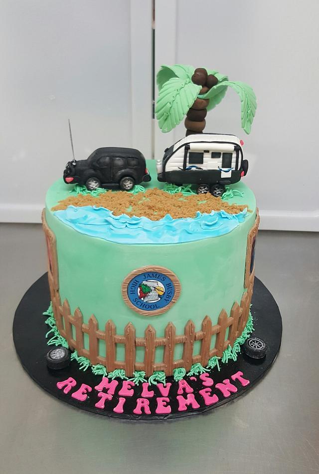 Melva's Retirement cake