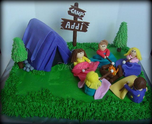 Camping Sleepover Cake