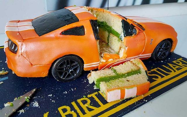 Working Remote Control Car Cake