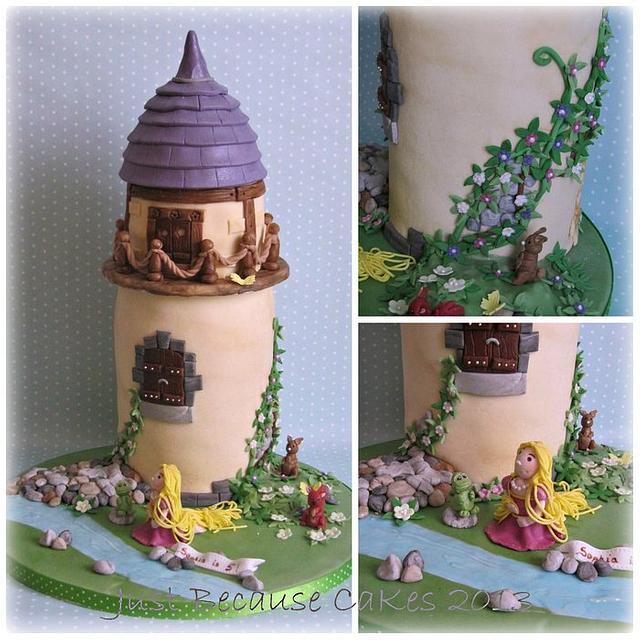 Rapunzel/Tangled Tower Cake