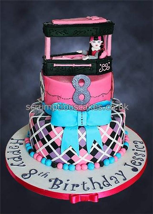 Cool Monster High Birthday Cake Cake By Scrumptious Cakes Cakesdecor Funny Birthday Cards Online Fluifree Goldxyz