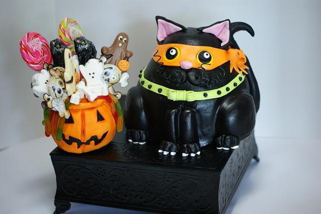 Halloween Fat Cat