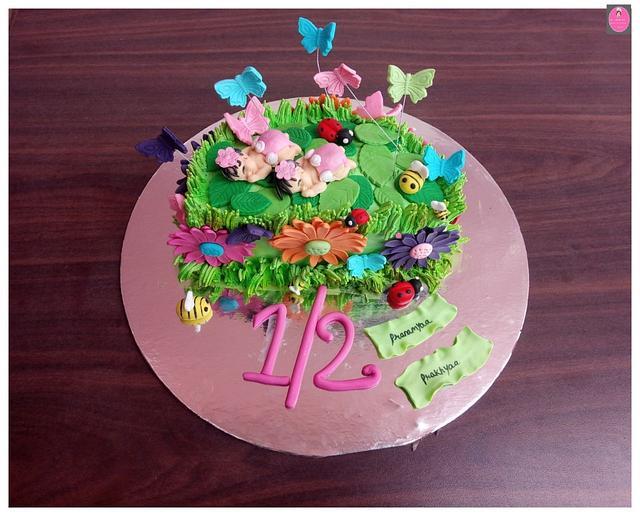 Marvelous Fairy Theme 1 2 Birthday Cake Cake By Rohini Punjabi Cakesdecor Funny Birthday Cards Online Aboleapandamsfinfo