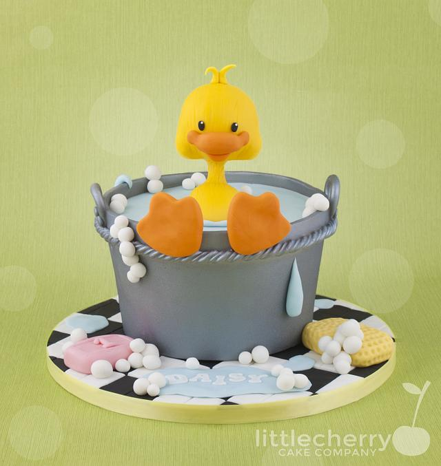 Bath time for ducky