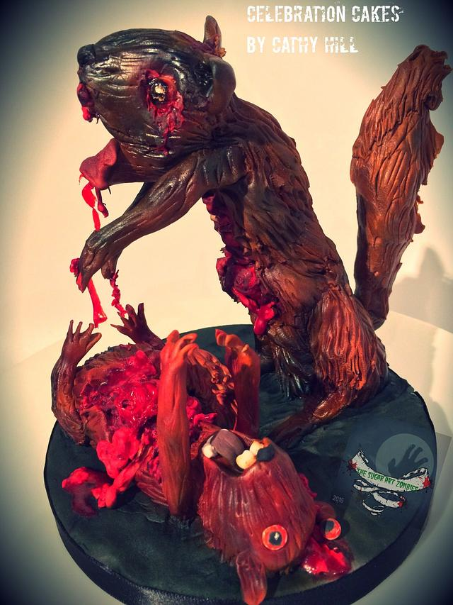 The Sugar Art Zombies Collaboration 2016 - The attack of the Zombie Squirrel