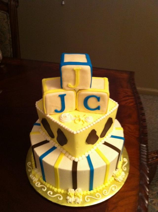 Tiered Baby Block Cake