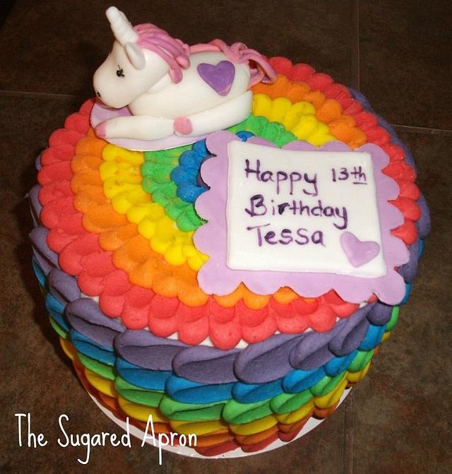 Rainbow/Unicorn Cake