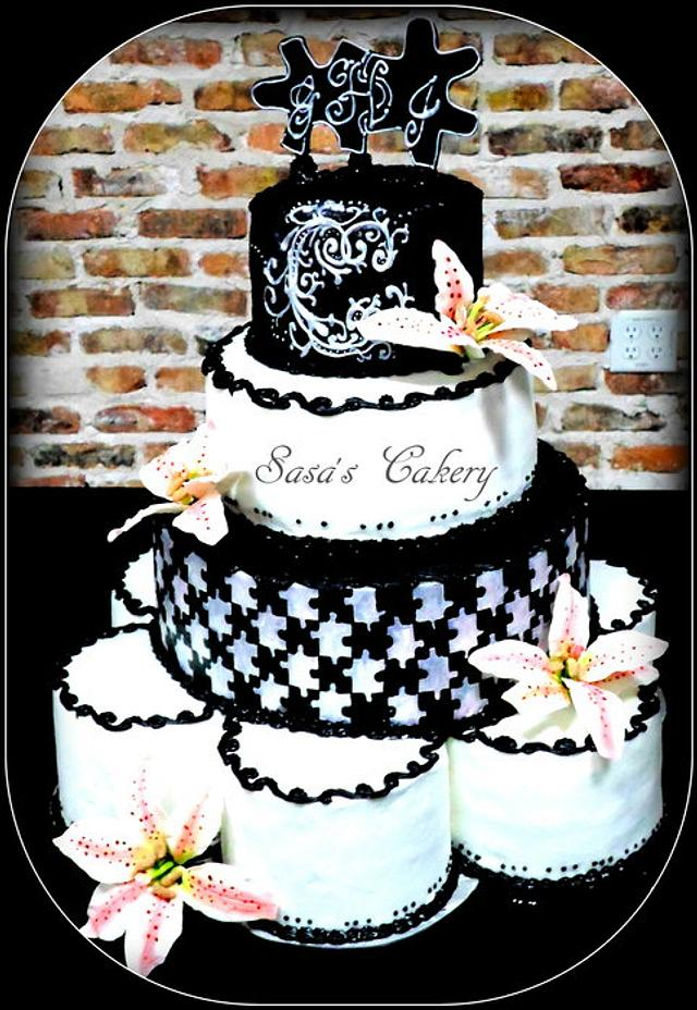 Star gazer Lily Cake